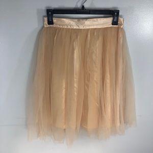 Sequin Hearts Blush Pink Tulle Midi Skirt Size S